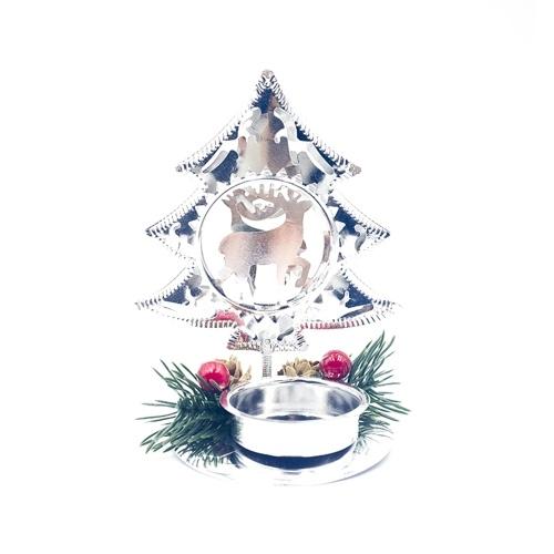 Enfeites de pinha com suporte para velas de Natal