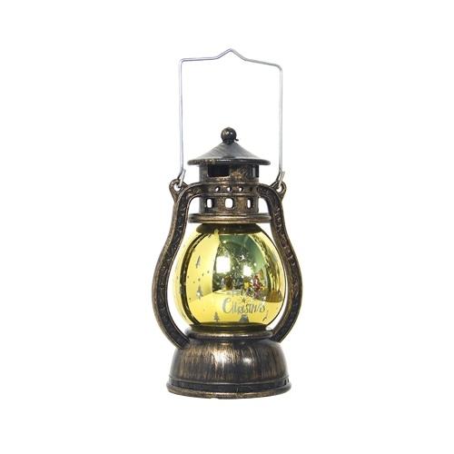 Warmes Licht Sturm Laterne Weihnachtsmuster Kleine Led Lampe Dekoration Weihnachtsanhänger