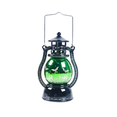 Теплый свет штормовой фонарь Хэллоуин шаблон небольшой светодиодный светильник украшение Хэллоуин кулон