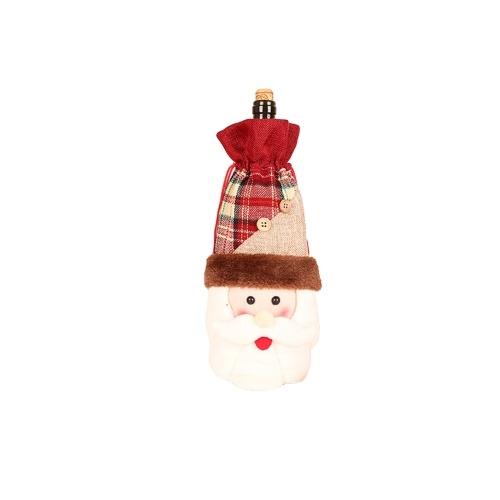 Weihnachtswein Flaschenabdeckungen / Taschen (Santa)