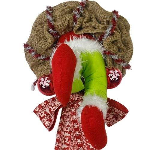 Wall-Mounted Christmas Decoration How The Christmas Thief Stole Christmas BurlapWreath Santa Decorative Artware