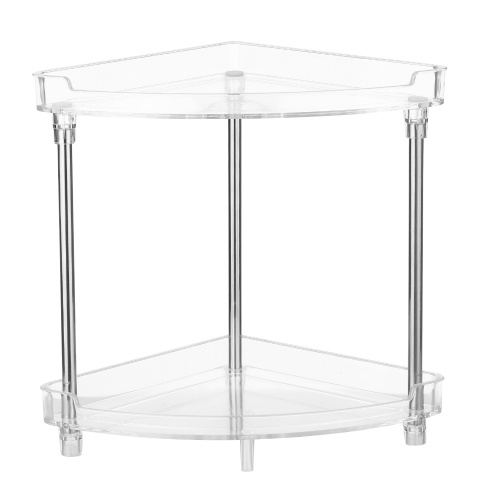 2-Tier Corner Storage Organizing Caddy Stand