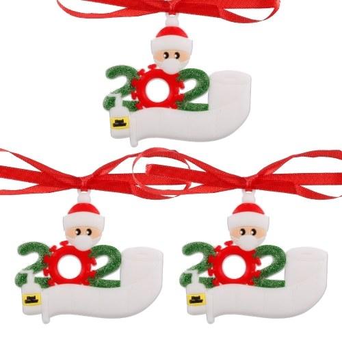 3 peças de enfeites para árvore de natal