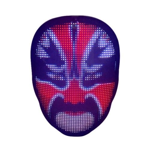 Máscara assustadora de Halloween Máscara de Natal com LED Máscara para fantasia de LED