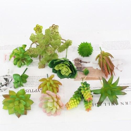 Artificial Succulents Plant Set Unpotted DIY Realistic Plants