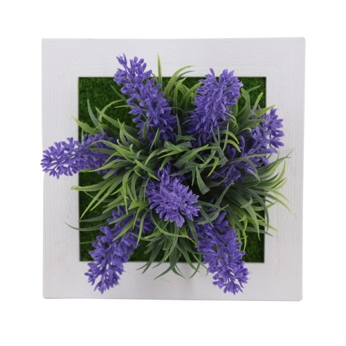 6x6 Inch Artificial Flower Plant Photo Display Frame