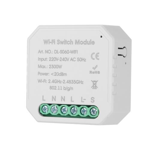 Tuya MINI DIY Einweg-Smart-Schalter APP-Fernbedienung WiFi-Schalter Timer-Lichtschalter Kompatibel mit Google Home / Nest & Alexa