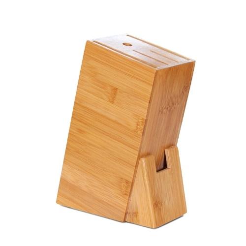Estante de bambú para tenedor de cuchillos de cocina