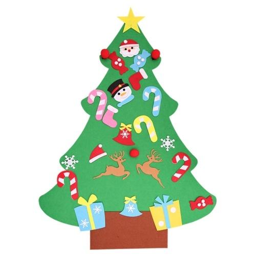 Conjunto de decoração de feltro para árvore de natal