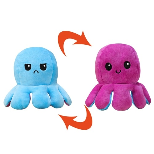 Reversible Octopus Shaped Plush Toy