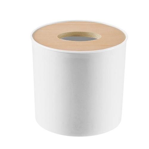 Dispensador de toallas de papel Soporte de tapa de caja de pañuelos de madera