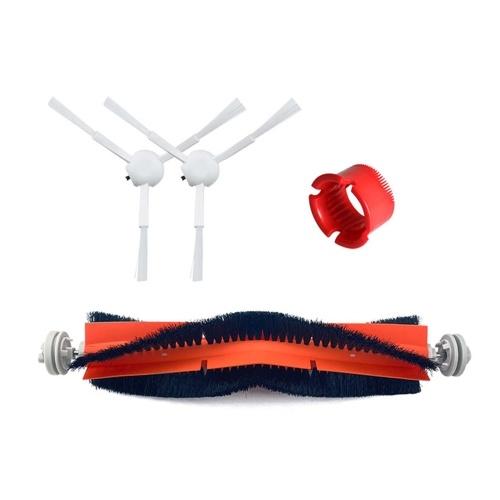1 par de cepillos laterales + 1 cepillo principal + 1 pieza de repuesto de peine cilíndrico para aspiradora Xiaomi 1C