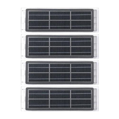 2 pares de filtros de carbón activado de repuesto para aspiradora Xiaomi S5 / T6 / T7 / P5 Series T4 / S1