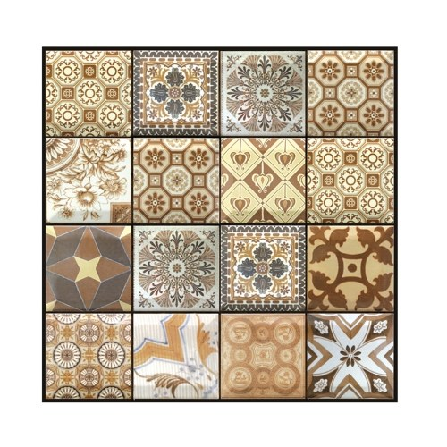 3 Dimension Multicolor Geometric Pattern Water-resistant Moistureproof Removable Self Adhesive Wallpaper