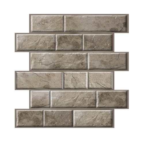 3 Dimension Brown Brick Water-resistant Moistureproof