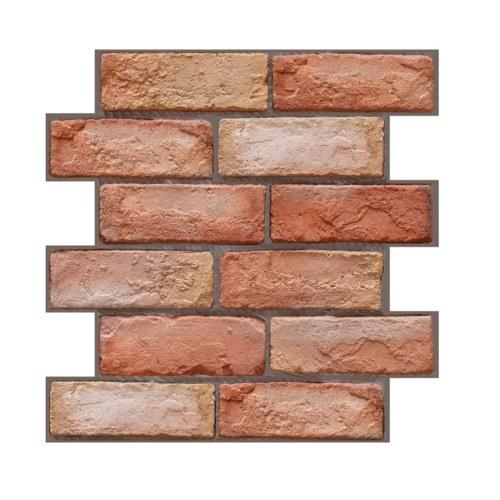 3 Dimension Red Brick Wasserbeständige feuchtigkeitsbeständige abnehmbare selbstklebende Tapete