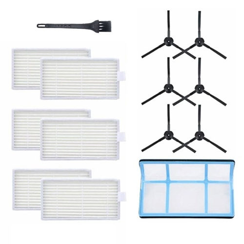 3 Pairs Side Brushes + 6Pcs HEPA Filters + 1Pc Primary Filter + 1Pc Black Brush