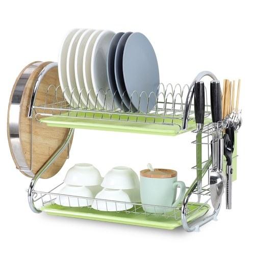 Dish Drying Rack 2 Tier Dish Rack