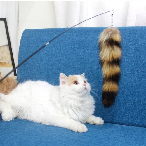 Cat Teaser Retractable Cat Feather Toy