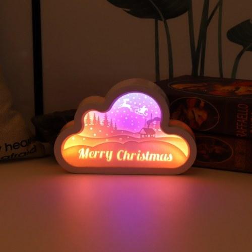 Luce notturna intagliata in carta con scatola leggera 3D Papercut