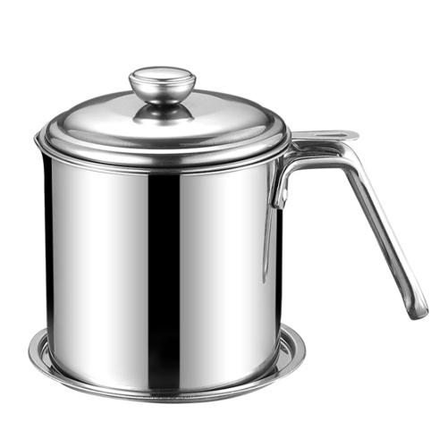 Olla de aceite de cocina (401 y 1.3L y mango redondo de acero)