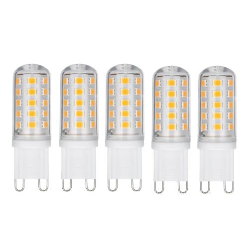 5шт G9 светодиодная лампа теплый / белый свет (3000K / 6000K) светодиодный инкубатор 3W 300 люмен 33 бусины светодиодная лампа