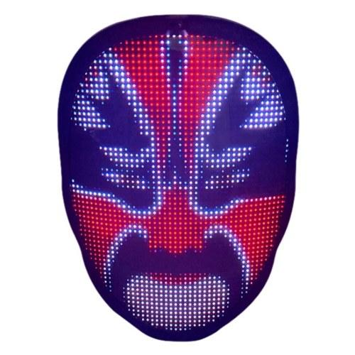 Aplicación de edición de máscara facial luminosa que cambia de cara variable