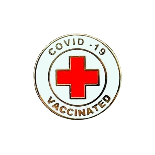 Vaccinated Pin Buttons Vaccine Metal Brooches Badge Vaccine Recipient Notification Button Pins 0.9 Inch Round