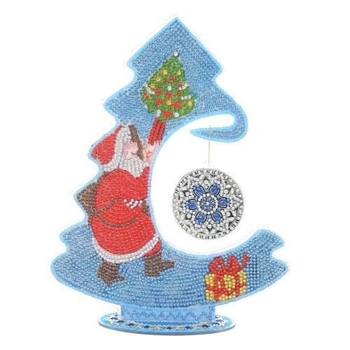DIY Diamond Painting Lumious Christmas Tree Drill Diamond Embroidery Kit DIY Christmas Desktop Decoration