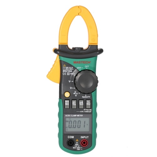 KKmoon Mastech MS2108A Digital Clamp Multimeter Frequency Max./Min.Value Measurement Holding Lighting Bulb Carrying Bag