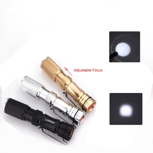 Lixada SK69 LED Super Mini Multi-Functional Adjustable Focus Zoomable Flashlight Torch Lamp Light 500LM 3-mode XPE Aluminum Alloy with Pen Clip