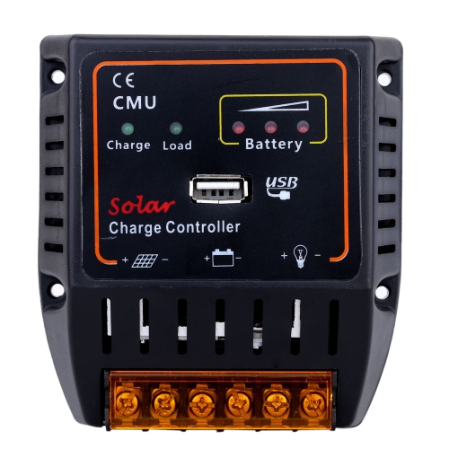 10А-12V/24V солнечные батареи заряд контроллер с USB выход автоматический регулятор системы защита от перезарядки