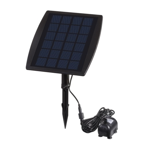 Solar Power Panel Landscape Pool Garden Fountains Pluggable Solar Power Decorative Fountain 9V 2.5W Water Pump