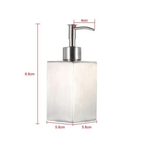Image of Hochwertige Edelstahl Seifenspender flüssige für Bad Küche Arbeitsplatte Badezimmer Accessoire