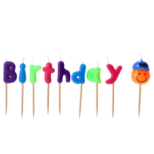 Douself Lovely Cartoon Birthday Cake Candles Happy Birthday Colorful Party Baking Decorations Supply