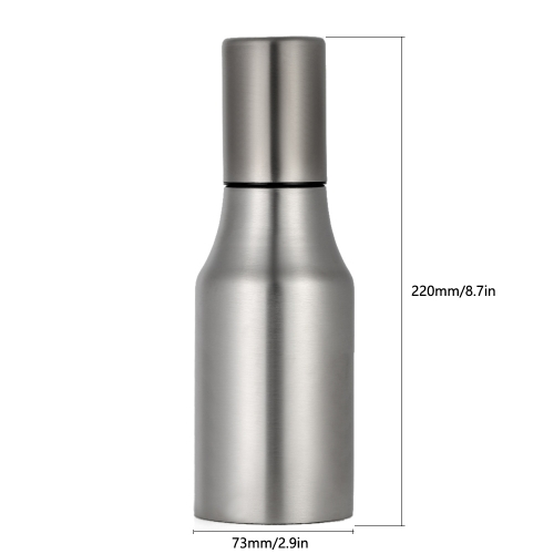500ml Oil Dispenser,Anself Oil Bottle Dispenser Stainless Drop Sauce Bottle for Kitchen