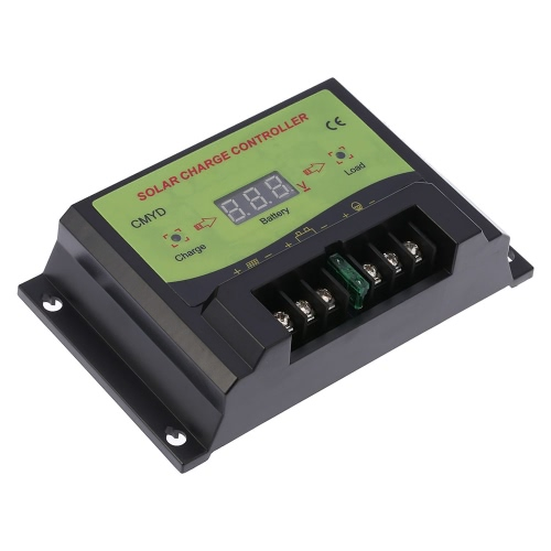 Anself 20A 12/24V Automatic Intelligent Solar Charge Controller PWM Charging Panel Battery Regulator Temperature Compensation