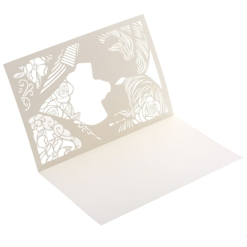 20Pcs Romantic Delicate Wedding Party Invitation Card Delicate Carved Pattern Banquet Decoration