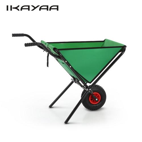 IKayaa Wielofunkcyjna rama stalowa Składana taczka ogrodowa Pojemność 30 kg
