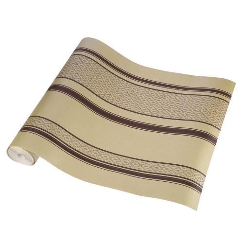 SENBIRD Klassiker der europäischen Stil Tapete nichtgewebten Papier-Streifen und Rebe strukturierte Tapeten Classic Retro Raumdekoration Hintergrund 0.53m * 10m = 5.3㎡