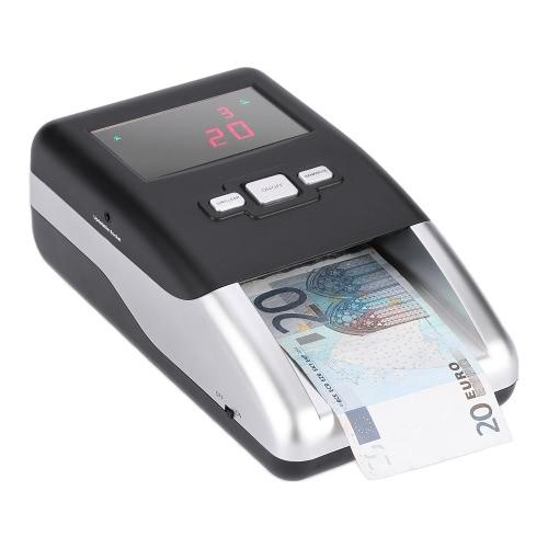 Профессиональный портативный детектор банкнот валют Деньги Подделка обнаруживая Машина для евро Светодиодный дисплей Sheets Номинал Value