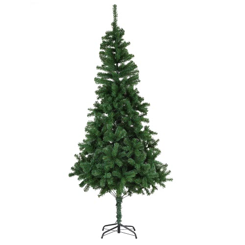 Festnight 6' High Quality Artificial PVC Christmas Pine Tree Spruce Hinged With Solid Metal Stand 800 Tips Full Tree Best Choice Products National Tree