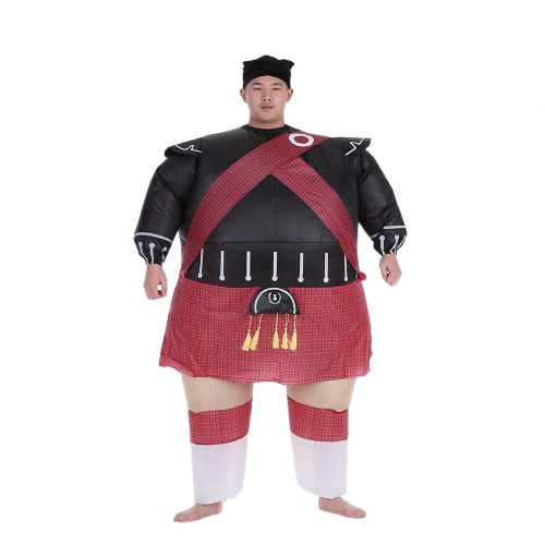 Fashion Samurai Style Adult Inflatable Costume Suit Fan Operated Blow Up Party Xmas Fancy Cosplay Outfit Inflatable Jumpsuit