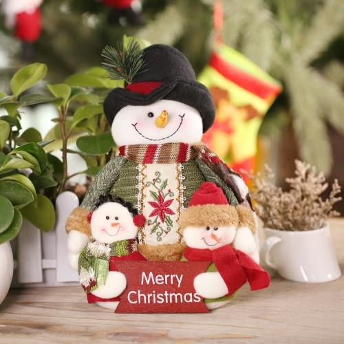 Festnight Lovely Christmas Toy Doll Well Papá Noel Decoration