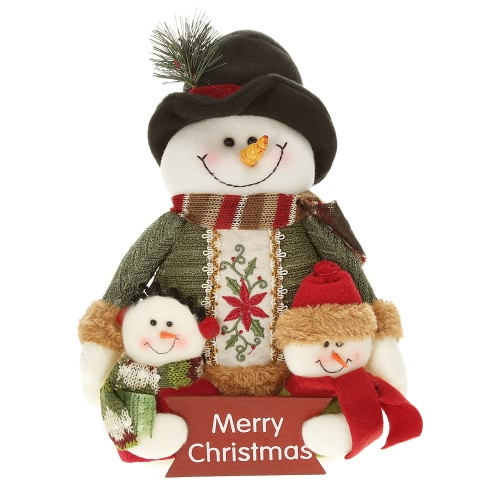 Festnight Lovely Adorable Christmas Toy Doll Well Made Santa Clause Snowman Cloth Doll Plush Toy Christmas Decoration