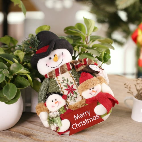 Festnight Lovely Christmas Toy Doll Well Made Santa Clause Decoration