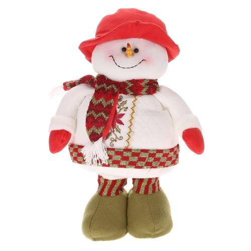Festnight 1PC Fashion Retractable Christmas Santa Claus Snowman Doll 55*25cm Christmas Ornaments Best Gift Gadget Decoration Supply