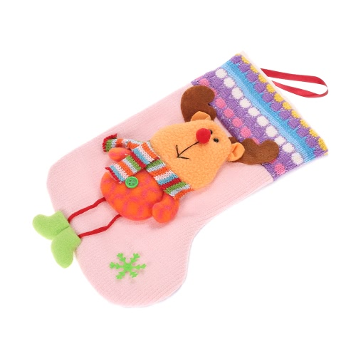 Cute Snowman/Santa Claus/Reindeer Christmas Gift Candy Bag Present Stocking Sock Xmas Tree Ornament Pendant Christmas Decoration Supply