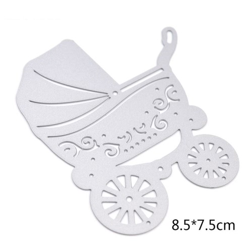 Metal Baby Stroller Carbon Steel Template Embossing Cutting Dies Stencil Scrapbooking Decorative DIY Craft Paper Card