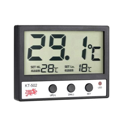 Medidor de la temperatura del LCD Digital Fish Tank termómetro del acuario del agua ° C / ° F Alta / alarma de baja temperatura